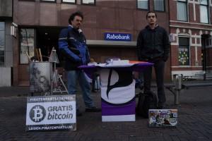 Piratenpartij Leiden Bitcoin actiesm